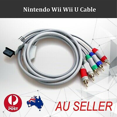 HDTV Component HD TV GOLD AV Cable Video 480p for Nintendo Wii Wii U Console