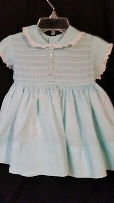 Infant Girl Vintage Peaches n' Cream Tuck Point Dress Size 2