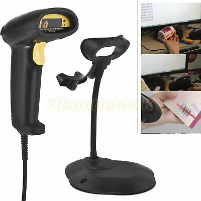 Wireless 2.4G USB Barcode Scanner Handheld Laser Scan Automatic Reader Portable