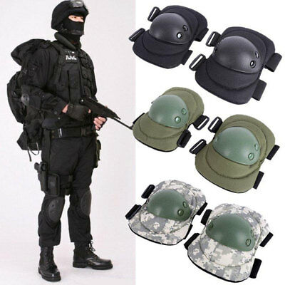 4Pcs Knee Elbow Protective Pads Set Sports Cycling Tactical Protector Gear
