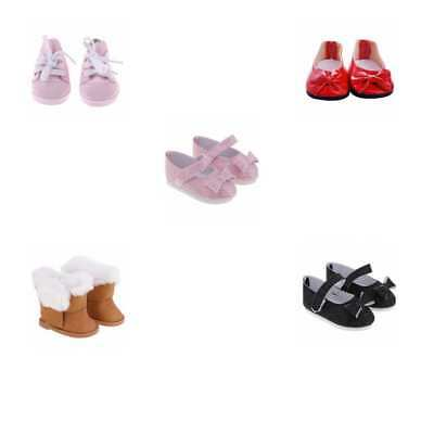 Set of 5 Pairs Assorted Casual Flat Shoes for 18'' American Girl Dolls ACCS