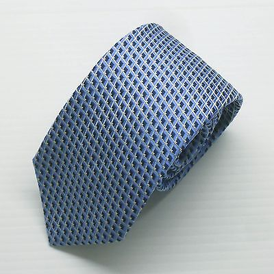 NWT Battisti Napoli Tie Light Blue with Navy diamond pattern Made in Italy