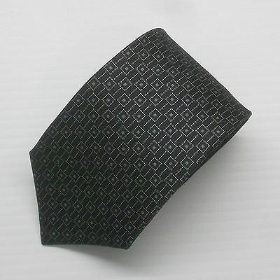 NWT Battisti Napoli Tie Black with White & Gray Pattern Made in Italy