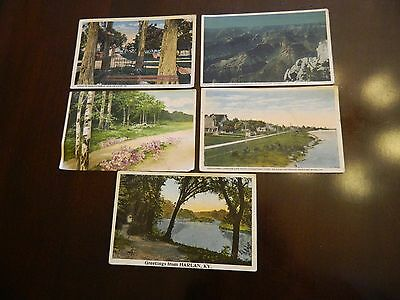 Lot of 5 Vintage Postcards 1920s Newport News Harlan KY Grand Canyon New Orleans