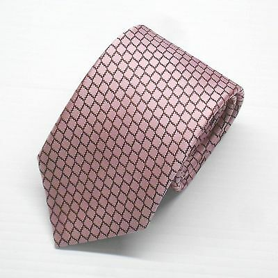 NWT Battisti Napoli Tie Pink with Geometric Pattern 100% Silk Made in Italy