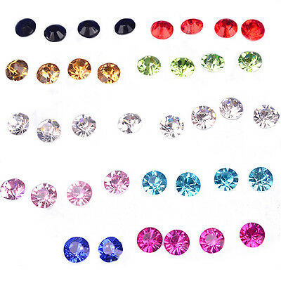 Lc_ 20 Pairs Women Rhinestone Allergy Free Ear Studs Fashion Earrings Sanwood