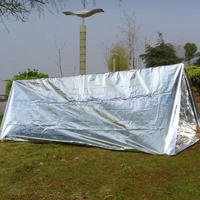 Useful Outdoor Emergency Survival Rescue Thermal Heat Space Foil Blanket Faddish