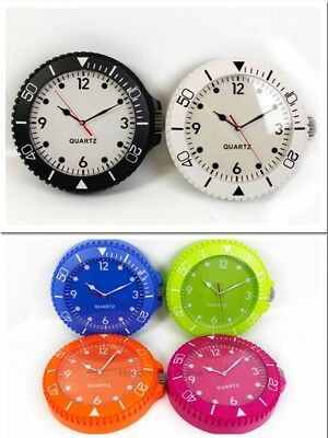 Black / White / Green Watch Style Round Sports Wall Clock Home Office Decor