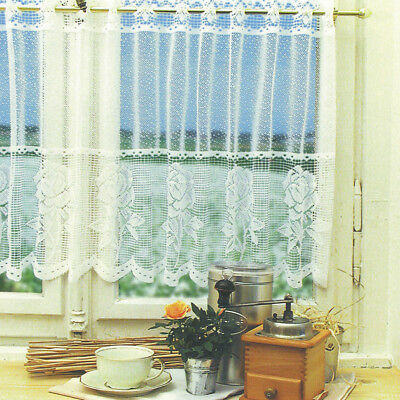 Window Lace Curtain Voile Net Curtains Tier Curtain Half Valance Blind #7