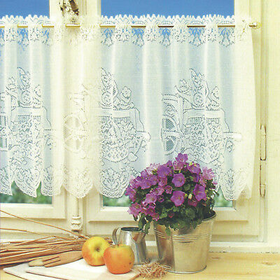 Window Lace Curtain Voile Net Curtains Tier Curtain Half Valance Blind #2