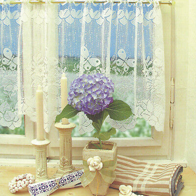 Window Lace Curtain Voile Net Curtains Tier Curtain Half Valance Blind #3