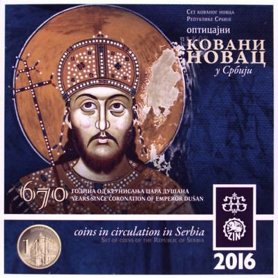 Serbia 2016. Official Mint Set of National Bank