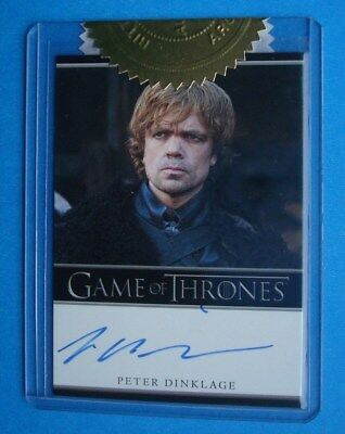 2012 GAME Of THRONES Season 1 Auto/AutoGraph Peter DINKLAGE Tyrion LANNISTER 6CI
