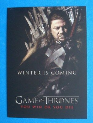 2012 Rittenhouse **GAME Of THRONES** Season 1 You Win Or You Die #SP1 Ned STARK