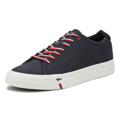 50b5cdd9bc3b9 Tommy Hilfiger Mens Midnight Blue Dino 1D Trainers Lace Up Sport Casual  Shoes