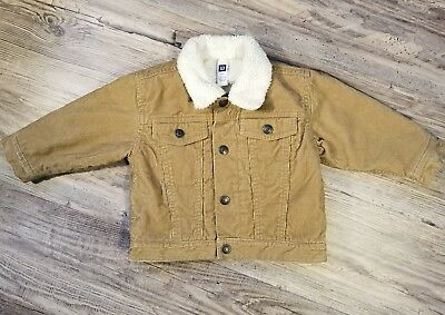 Baby Gap Boys Jacket Corduroy Button Up Lined Size 12-18 Months