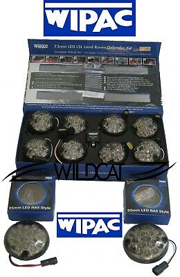 Land Rover Defender Led Wipac Deluxe Smoke Upgrade Lamp Light Kit - 10 Lamps