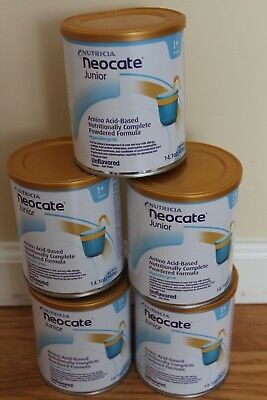 Neocate Junior Unflavored flavor 5 cans 14.1 oz each Fast Shipping!