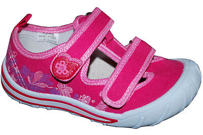 Canvas girls shoes TRAINERS Real leather insoles! sandals Size UK 3-7