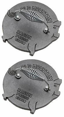 Old Mountain Preseasoned Cast Iron Grill Press (2, Pig) 2 New