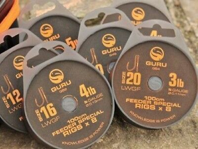 Guru Lwg Feeder Special Rig 1M (100Cm) 8 Rigs Per Pack All Sizes Available