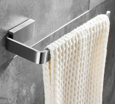 Towel Holder Wall-Mounted Hand Polished Stainless Steel Finish Brushed Nickel