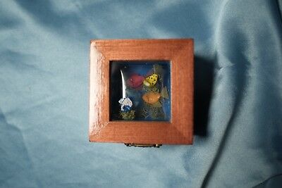 Tropical Fish Treasure Chest Under the sea Hand made Shadow box Gift M13