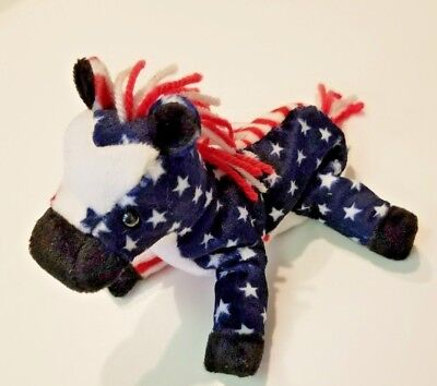 Spangle Patriotic Red White and Blue Ty Beanie Baby