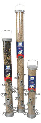 Bird Feeder CJ Wildlife: Metal Conqueror Silver. Small, Medium & Large Feeders