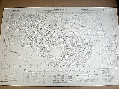 """ORDNANCE SURVEY MAP 1971. WEST MOORS. DORSET. 1:2500. APPROX 35"""" by 23"""""""