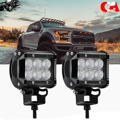 2X 27W Pods Round LED Work Light Offroad Fog Driving DRL SUV ATV Truck 4WD