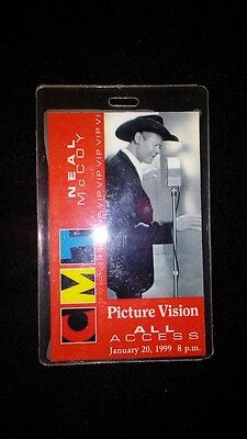 Neal McCoy CMT Vip ALL ACCESS Laminate Authentic Pass 1999