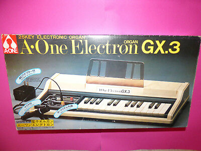 Vintage A-One Electron Gx.3 Organ Made In Japan Boxed Tested Ultra Rare!!