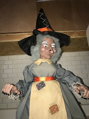 Halloween Motionette Telco Animated 2ft Spell Casting Witch