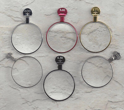 Lot of 6 vintage trial or optical lenses.. make your own necklace