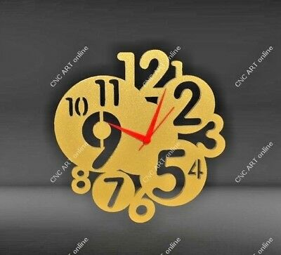 Nice clock design DXF and EPS File For CNC Plasma, Router, laser (C1)