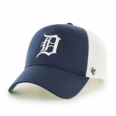 47 BRAND NEW Men's MLB Detroit Tigers Branson MVP Cap Navy BNWT