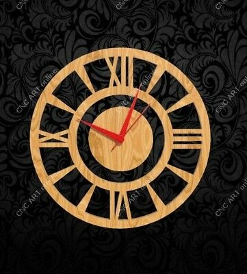 Nice clock design DXF and EPS File For CNC Plasma, Router, laser (C12)