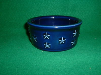Longaberger Pottery - Proudly American - Blue Mini Star Bowl