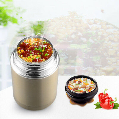 Stainless Steel Insulated Food Container Vacuum Lunch Box Thermos Food Jar 800ml