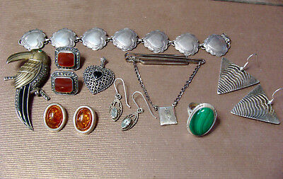 Small Sterling Silver Scrap Lot Good Wearable Vintage Jewelry 82 Grams