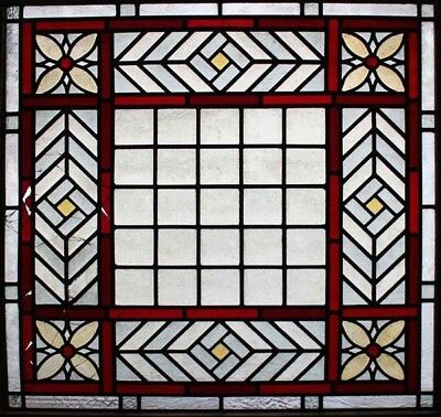 Original Victorian Antique Stained Glass Window