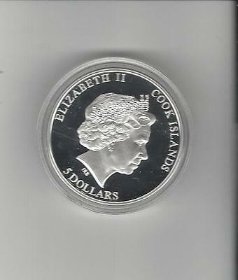 2013 Cook Islands Silver Proof $5 With Parrot