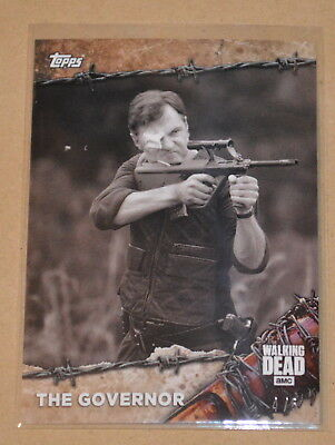 2017 Topps On Demand The Walking Dead Black & White card #6BW The Governor 4/5