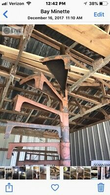 15' Commercial Grade Vintage Iron Spiral Staircase