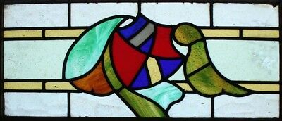 Original Art Deco English Stained Glass Window
