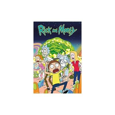 GB eye Rick and Morty Group Maxi Poster, Wood, Various, 61 x 91.5 cm