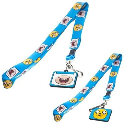 Adventure Time Finn and Jake Lanyard with Rubber Character Pendant (Blue)