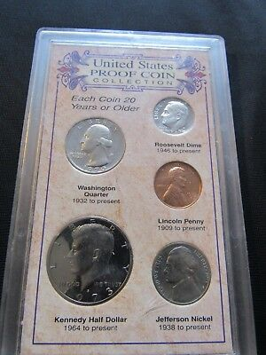 Coin Collection United States Proof Coins Set, all issued in1970's from S Mint