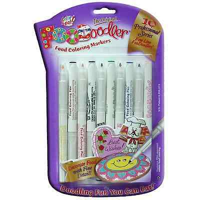 Edible Ink Marker pens Foodoodler Food colouring writer 10 Fine pack - FAST P+P